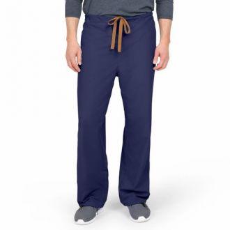 WORKS Unisex Reversible Scrub Pants - Navy Blue