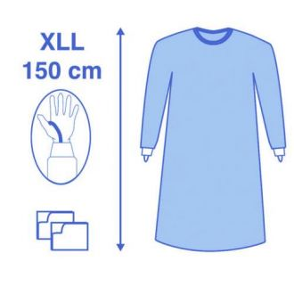 Casaque de chirurgie standard Eclipse - avec passe-pousses