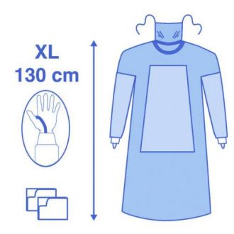 Eclipse Fabric Reinforced Gown with Mask and Thumb Loop