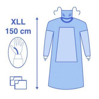 Casaque de chirurgie avec renfort matière Eclipse - bavette et passe-pouces