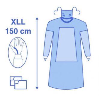 Eclipse Fabric Reinforced Gown with Mask and Thumb Loops