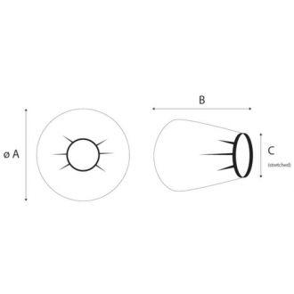 Banded bag circolare Copri Arco a C