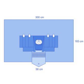 Nephroskopie-Abdecktuch, Eclipse®, Verstärkt, mit Flüssigkeitsauffangbeutel