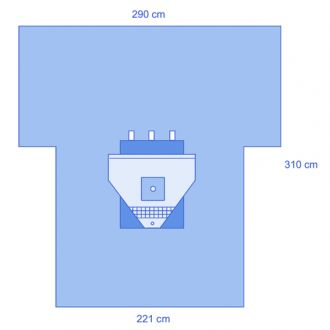 Advanced Arthroscopy T-Drape with Pouch