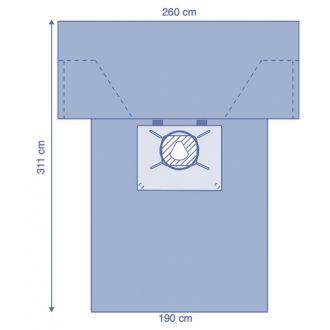 Telo Cesareo in Essential con sacca e fenestratura film incisione