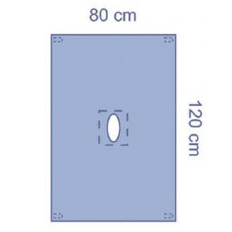 Epiduraltuch mit ovalen selbstklebenden Fenster, Essential