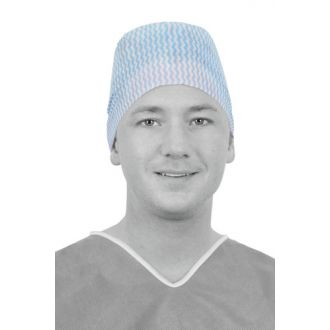 Single-Use Spunlace Viscose Surgical Cap  with Wide Forehead and Ties