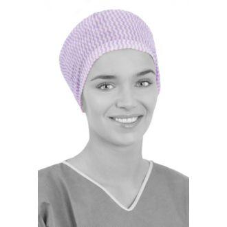 Touca Cirúrgica em Viscose Entrelaçada de Uso Único com Testa Larga e Nuca Elástica