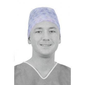 Gorro Quirúrgico Tipo Cirujano con Cintas, un solo uso