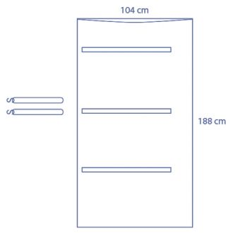 Universal clear C-Arm Cover - Half Coverage