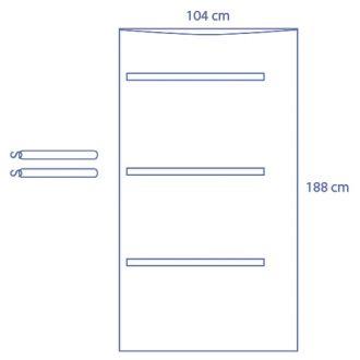 Copertura trasparente C-arm Universale - metà copertura