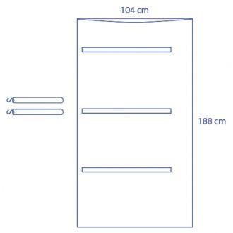 C-Bogen-Überzug, universal, durchsichtig, halbe Abdeckung