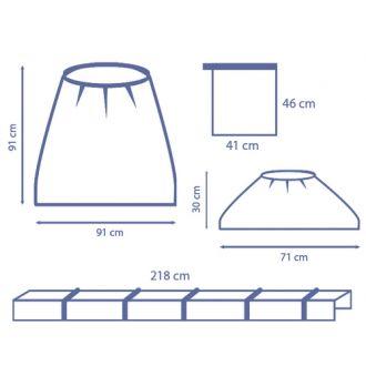 Set de Fundas para Arco de rayos X con Clips - Completa