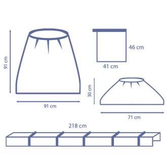 C-Bogen-Bezug-Set, mit Clips, komplette Abdeckung