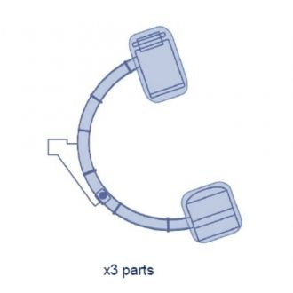 C-boog Hoezen Set met Clips - Volledige Bedekking - Ziehm 7000/CB7D