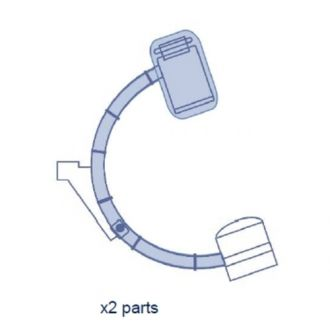 C-Bogen-Bezug Set mit Clips - Halbabdeckung - Ziehm 7000/CB7D