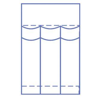Bolsa de Instrumental Invisishield para Laparoscopia - 3 compartimentos