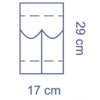 Invisishield Laparoscopie Instrumentenzakje - 2 Compartimenten