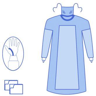Camice rinforzato in Advanced con mascherina e anello per pollice