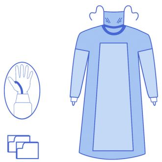 OPS Advanced Fabric Reinforced Gown with Mask & Thumb Loops