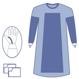 Essential Fabric Reinforced Gown with Thumb Loop