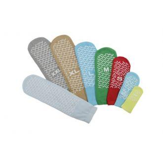 Calcetines antideslizantes de una suela  para para prevención de caídas